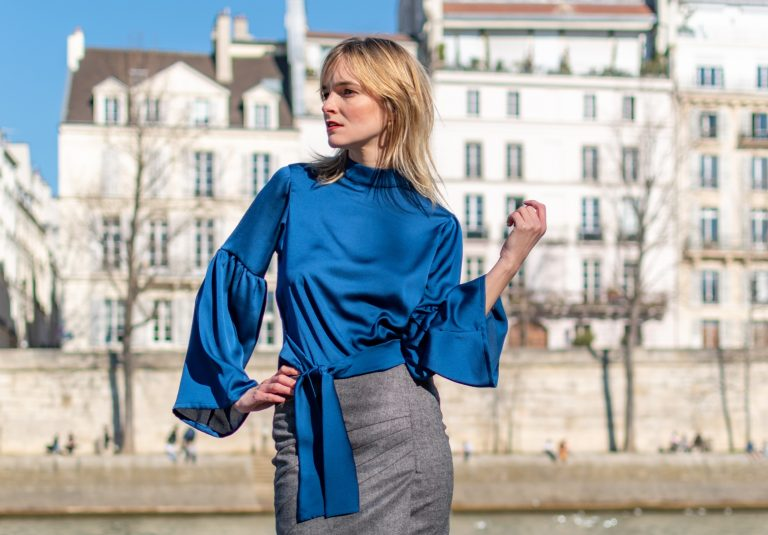 Flowy blue top with
